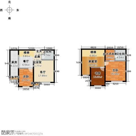 亿利城・滨河湾3室0厅2卫1厨154.00㎡户型图