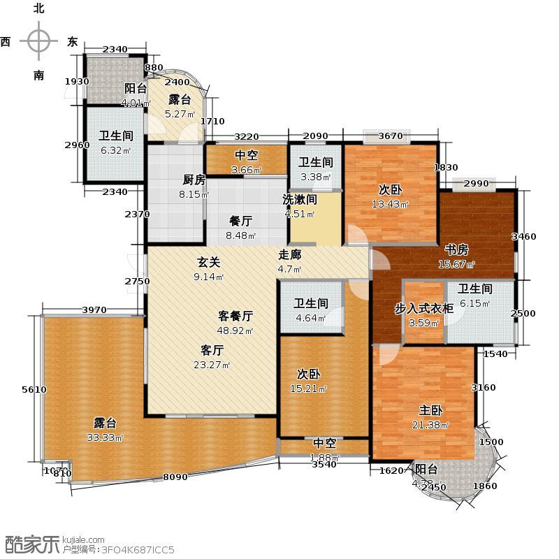 常发豪庭国际207.72㎡五房二厅四卫-207.72平方米-44套。户型