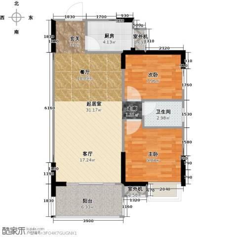 仁文大儒世家绿园2室0厅1卫1厨88.00㎡户型图