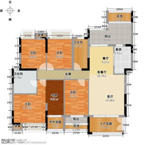 睿山4室1厅2卫1厨157.00㎡户型图