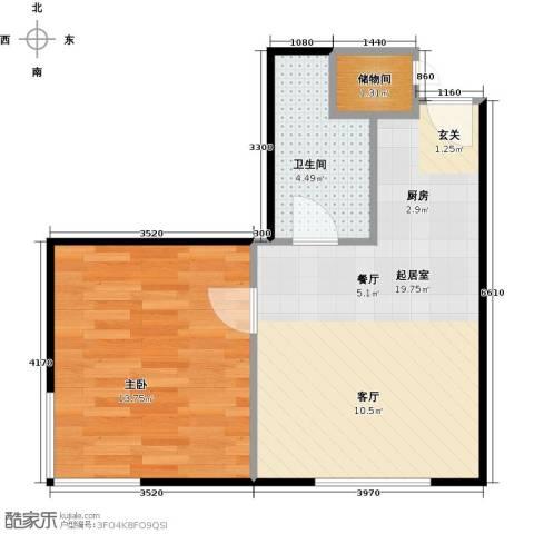 国融国际购物中心1室0厅1卫0厨53.00㎡户型图