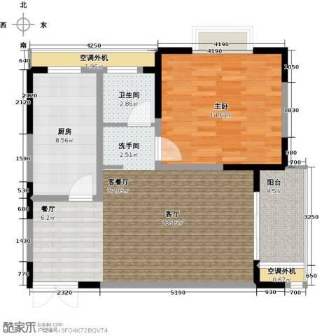 汇智・阳澄华庭1室1厅1卫1厨70.00㎡户型图