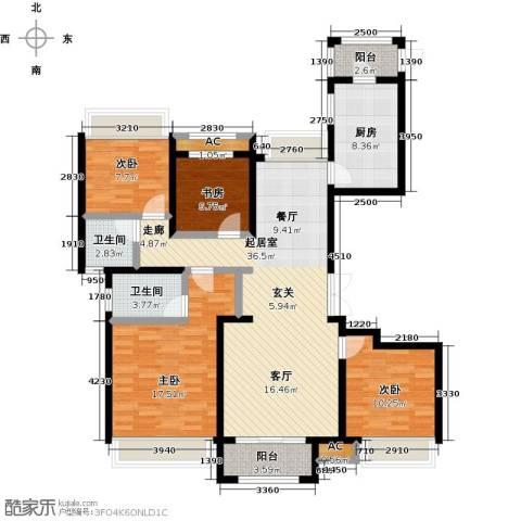 豪森名邸4室0厅2卫1厨136.00㎡户型图