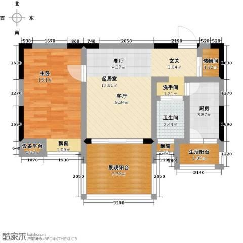 恩威・玲珑南域1室0厅1卫1厨73.00㎡户型图
