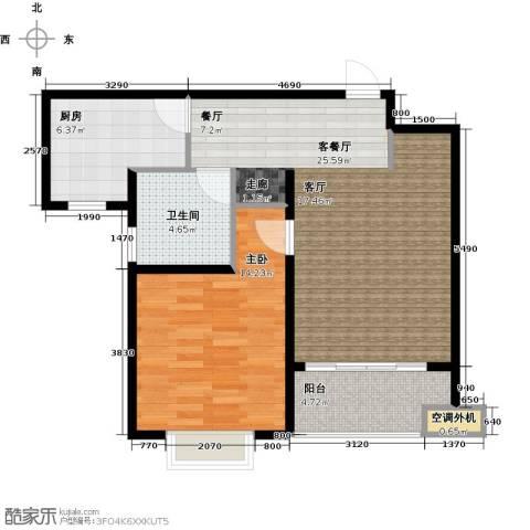 上域(逸庭苑)1室1厅1卫1厨79.00㎡户型图
