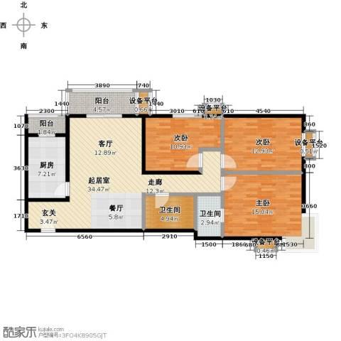 梵谷水郡(ZAMA三期)3室0厅2卫1厨139.00㎡户型图