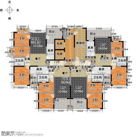 恒大绿洲9室0厅4卫4厨496.00㎡户型图