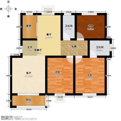 嘉兴秀水人家3室1厅2卫1厨112.00㎡户型图