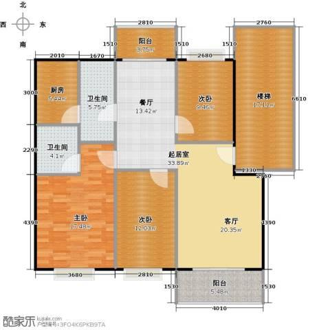 天龙花园3室0厅2卫1厨114.49㎡户型图