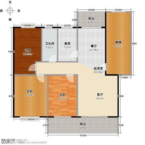 天龙花园3室0厅1卫1厨127.65㎡户型图