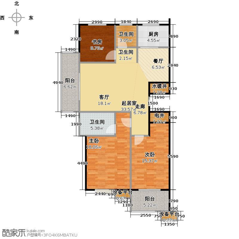 蔚海新天地121.70㎡WG1户型3室2厅2卫