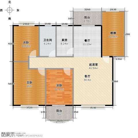天龙花园3室0厅1卫1厨115.41㎡户型图