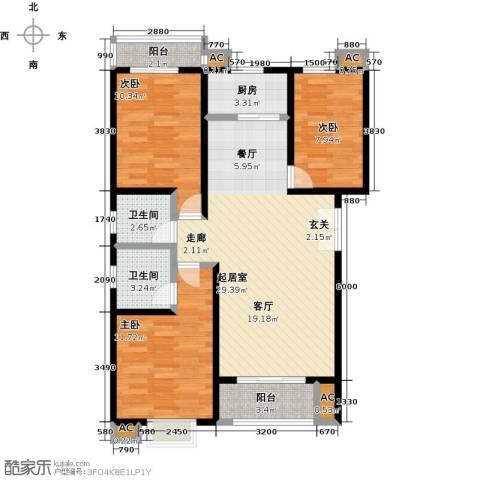 胜利花园3室0厅2卫1厨109.00㎡户型图