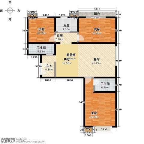 胜利花园3室0厅2卫1厨149.00㎡户型图