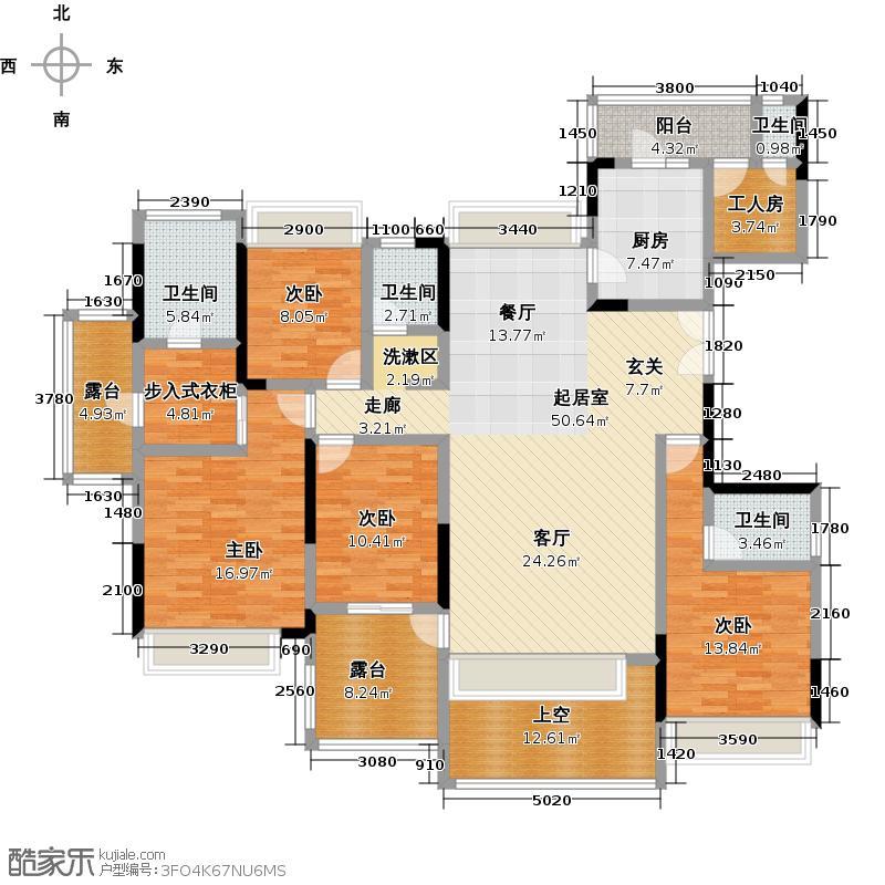 波托菲诺香山里二期10栋偶数层D户型4室4卫1厨