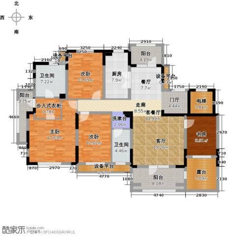 新地阿尔法国际社区4室1厅2卫1厨171.00㎡户型图