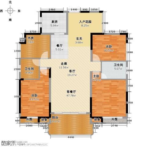 学府港湾4室1厅2卫1厨133.00㎡户型图