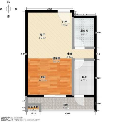 梵谷水郡(ZAMA三期)1卫1厨56.00㎡户型图