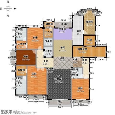 亿锋8号4室0厅5卫1厨286.29㎡户型图