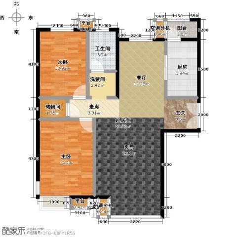 桐城国际2室0厅1卫1厨124.00㎡户型图