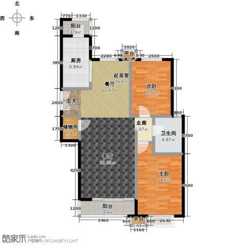 桐城国际2室0厅1卫1厨114.00㎡户型图