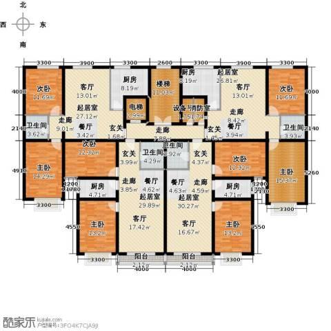晨馨花园8室0厅4卫4厨413.00㎡户型图