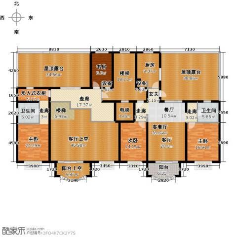 亚太国际公馆4室1厅2卫1厨418.00㎡户型图