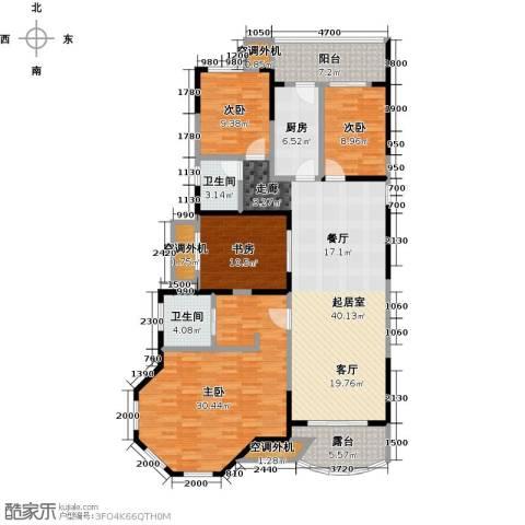 保利东湾国际4室0厅2卫1厨129.79㎡户型图