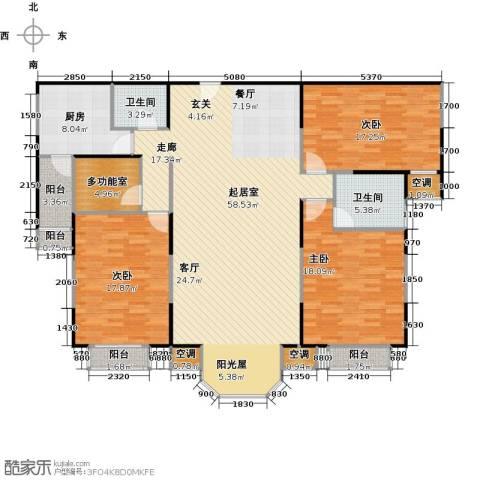 合生珠江罗马嘉园3室0厅2卫1厨165.00㎡户型图