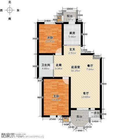 第6城三期2室0厅1卫1厨109.00㎡户型图