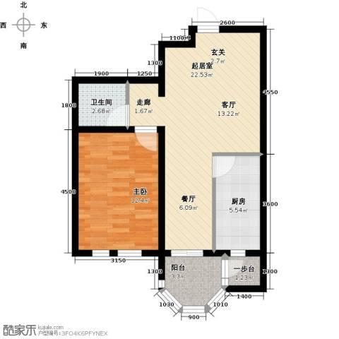 第6城三期1室0厅1卫1厨69.00㎡户型图