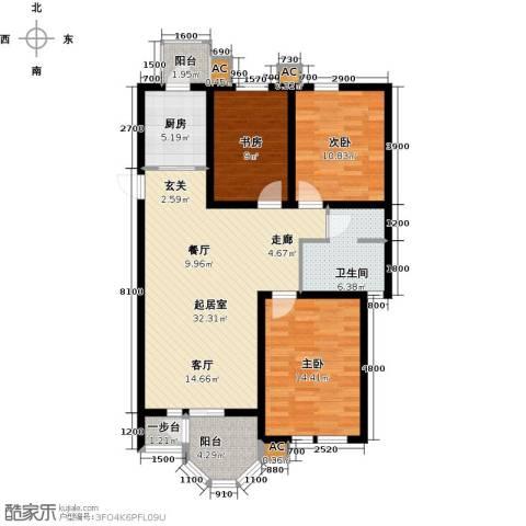 第6城三期3室0厅1卫1厨125.00㎡户型图