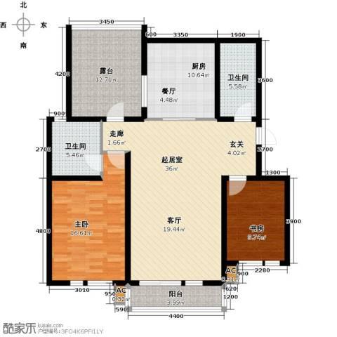 第6城三期2室0厅2卫1厨144.00㎡户型图