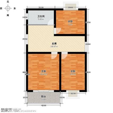 蟠龙山水三期3室0厅1卫0厨104.00㎡户型图