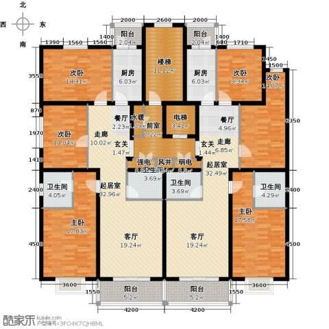 晨馨花园6室0厅4卫2厨312.00㎡户型图