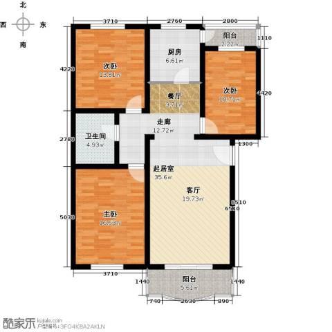 双河北里3室0厅1卫1厨118.00㎡户型图