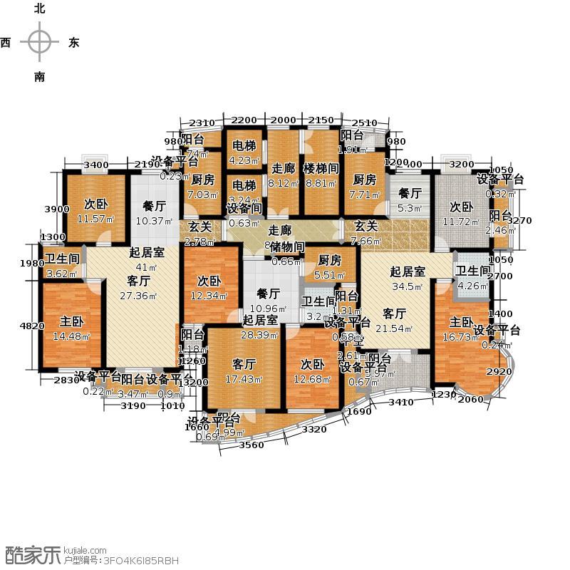 海尚豪庭二期尚座115.60㎡三房二厅一卫-115.60-118.59平米-18套户型