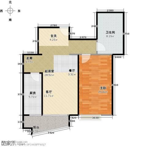 万润家园1室0厅1卫1厨68.00㎡户型图