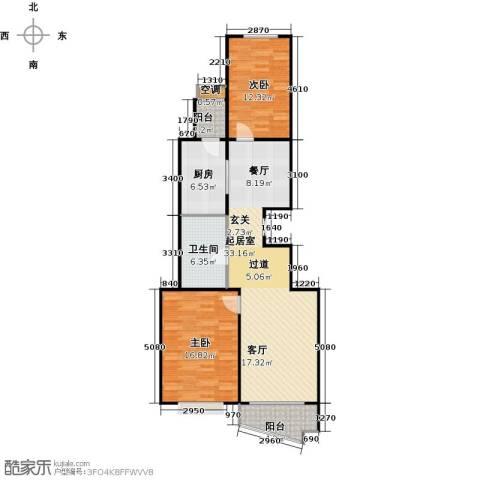 万润家园2室0厅1卫1厨88.00㎡户型图