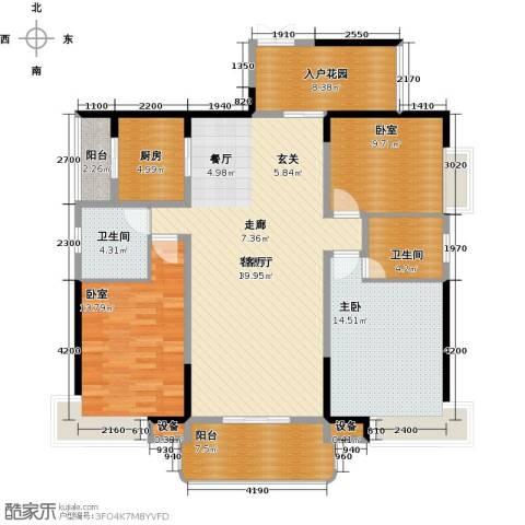 学府港湾1室1厅2卫1厨126.00㎡户型图
