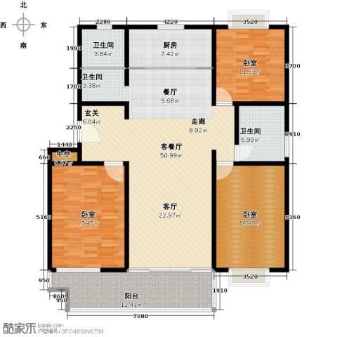 祥瑞家园1厅2卫1厨144.00㎡户型图