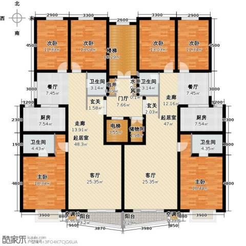 晨馨花园6室0厅4卫2厨348.00㎡户型图