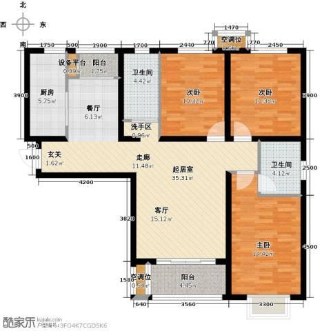 睿和新城3室0厅2卫1厨135.00㎡户型图
