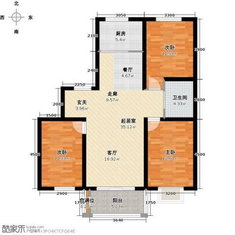 睿和新城3室0厅1卫1厨123.00㎡户型图