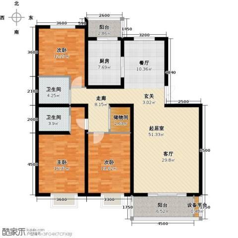睿和新城3室0厅2卫1厨173.00㎡户型图