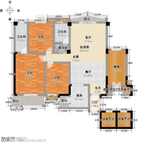 世纪名城3室0厅2卫1厨193.00㎡户型图