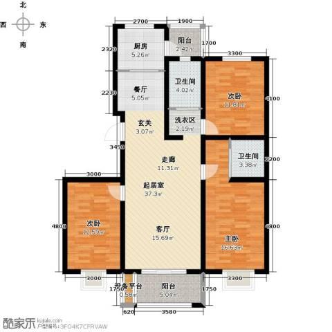 睿和新城3室0厅2卫1厨142.00㎡户型图
