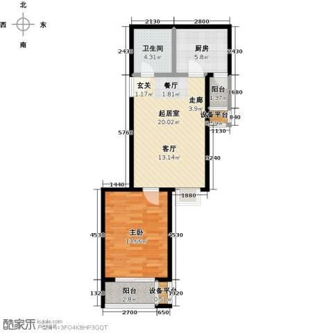 水木天成1室0厅1卫1厨68.00㎡户型图