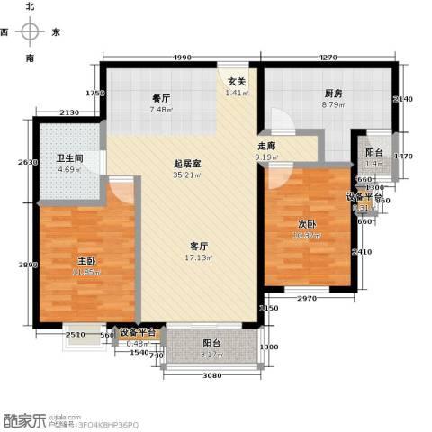 水木天成2室0厅1卫1厨106.00㎡户型图