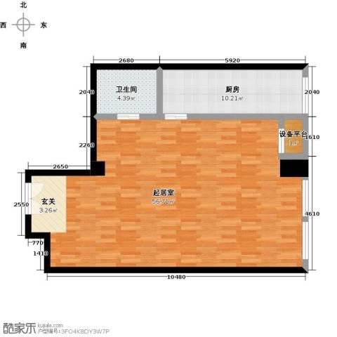 嘉业大厦二期1卫1厨92.00㎡户型图